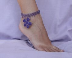Beaded barefoot sandal Foot jewelry Beaded by NevelynkaNasha, $15.00
