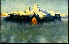 Kunstnerkort Th Kittelsen utg Mittet brukt 1910-tallet