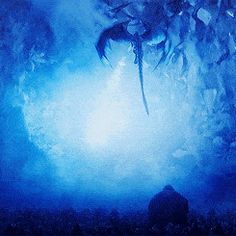 """Death: """"The Dragon and the Wolf."""" Cause of death: The Night King rides a reborn Viserion and has him take down the wall with his new blue fire breathing magic. It looks like Tormund and Beric make it, but a lot of the men at Eastwatch die in the process. Game Of Thrones Dragons, Got Dragons, Game Of Thrones Art, Mother Of Dragons, Fantasy Creatures, Mythical Creatures, Dragon Rey, Dragon Fight, Clay Dragon"""