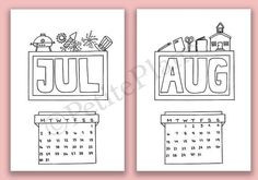 2018 Bullet Journal Cover Pages Printable •DESCRIPTION• This listing is for a digital file that you can print from home or at your local print shop. Grab these 12 monthly cover pages to add decoration to your journal or planner. They are all in black and white so they double as coloring