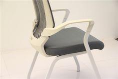 white frame mesh conference chair QG1502C-1 four legs meeting office chair