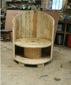 Spool & pallet chair