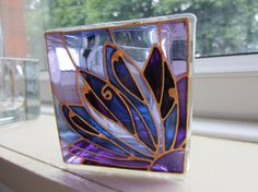 Purely Purple Hand Painted Candle Holder by ASplashofColour1, £12.50