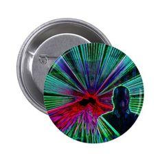 Lasers on DJ button / badge #zazzle HightonRidley