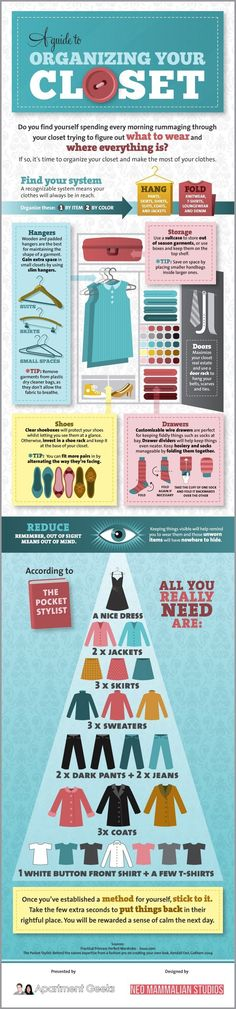How to Organize your Closet? [Infographic] - Apartment Geeks