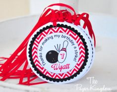 Bowling Hang Tags, Bowling Party Favor Tags, Bowling Birthday Party-Set of 12 Bowling Party Favors, Party Favor Tags, Birthday Party For Teens, 8th Birthday, Childrens Party, Hang Tags, Party Planning, Party Time, Birthdays