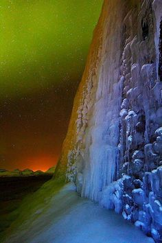 Frozen Northern Light Balsfjord Troms Norway - photography by Silvia and Juan