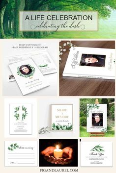 Planning a Life Celebration for Your Loved One- funeral guest book, memorial service welcome signs and funeral invitations