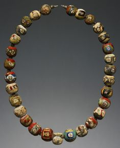 Mosaic glass bead necklace - Greek/Roman, 1st century BCE-1st century CE.