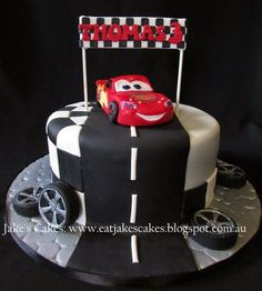 Lightening McQueen Cake