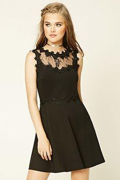 Crushed Velvet Rouched Sleeve Dress with Lace Yolk - Lavender Hazel 8wbEUJu