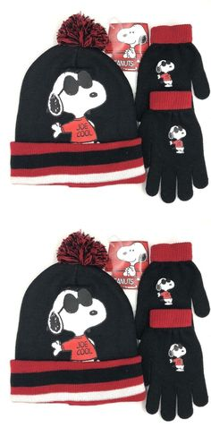 Hats 57884  Peanuts Snoopy Winter Hat With Gloves Set -  BUY IT NOW ONLY 9790f4d6a6
