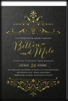 Invitation idea - masquerade wedding