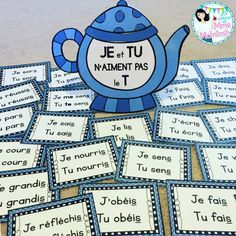 La classe de Mme McIntosh: Teapot - Present tense verbs French Verbs, French Grammar, French Phrases, French Teaching Resources, Teaching French, Teaching Tools, Teaching Rules, How To Speak French, Learn French