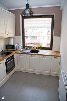 Średnia zamknięta kuchnia w kształcie litery l, styl rustykalny - zdjęcie od AC projekt