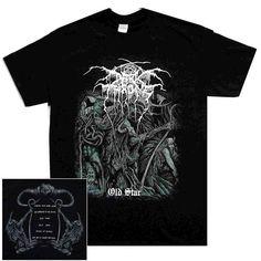 Darkthrone Old Star Shirt Dark Throne [Size: S] Black Elvis, Metal Shirts, Clothing Boxes, Band Shirts, Sewing Clothes, Shirt Designs, Star, Mens Tops, T Shirt