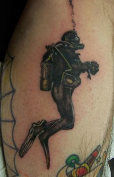 scuba+diver+tattoos | Scuba Diver... the first tattoo I did on a person... January 19, 2009