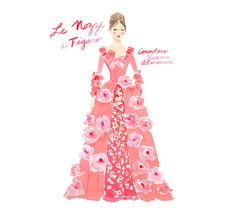 Countess Almaviva from Le Nozze di Figaro, as imagined by Kate Spade