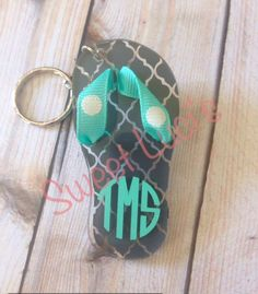Flip Flop Acrylic Keychain by SweetLucisCreations on Etsy