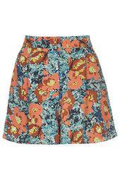 Skirted Floral Print Shorts