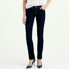 J.crew matchstick jeans ETAILS  If straight without being skintight is your thing, then so are these jeans. And their timeless dark rinse is just what your collection is missing.  Cotton with a hint of stretch. J. Crew Jeans
