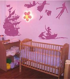 Peter Pan Tinkerbell Captain Hook Kids Childrens Wall art Stickers Decal Vinyl 9