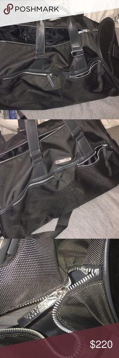 Versace Parfums Men Duffle Bag Weekender Gym Sport Travel Overnight Handbag!