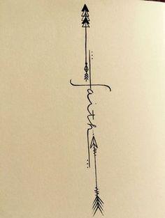 letras lindas para tatuajes con flechas