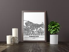 Excited to share the latest addition to my #etsy shop: Fortaleza map print, Minimalistic wall art poster, Brazil gifts, Birthday Gift, For father, Father Black And White Wall Art, Black And White City, Black And White Posters, Bathroom Artwork, Artwork Prints, Poster Prints, Disney World Map, Art Pieces, City Map Poster