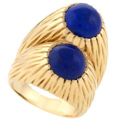 Cartier Mid 20th Century Lapis Lazuli and Gold Ring