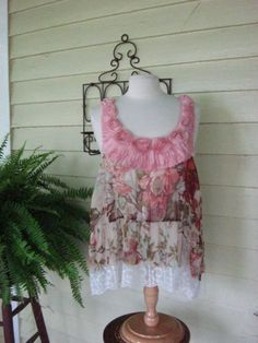 French Sugar Parisian Upcycled Tattered Chic by frenchsugarcouture, $74.00