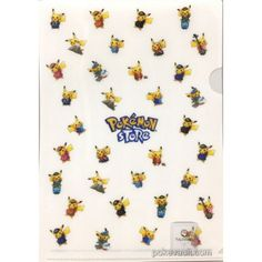 Pokemon Store 2017 Pikachu Mini Clear File Folder (Version #2) NOT SOLD IN STORES