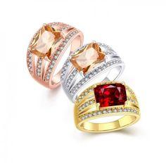 Anel Feminino Boêmia Geometria Banhado a ouro Banhado a ouro rosa Banhado…