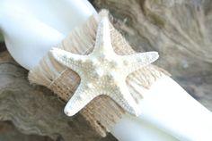 Burlap Beach Wedding Decor Napkin Rings Burlap & by JCBees on Etsy, $72.00