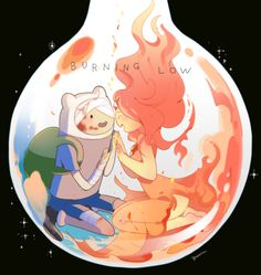 adventure time finn x princesa flama O(≧∇≦)O Flame Princess And Finn, Adventure Time Flame Princess, Adventure Time Finn, Abenteuerzeit Mit Finn Und Jake, Princess Celestia, Princess Bubblegum, Princess Aurora, Disney Gender Bender, Adveture Time