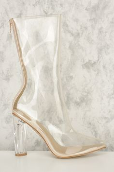 a2754b854b03b7 shoes clear boots see through transparent high heel boots clear ...