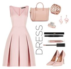 """Untitled #5"" by fibarra-barria ❤ liked on Polyvore featuring BCBGMAXAZRIA, Topshop, Burberry, Yves Saint Laurent, Tartesia, Oscar de la Renta Pink Label and Allurez"