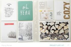 Documenter spread 2 by marcypenner at Studio Calico Project Life 6x8, Pocket Full Of Sunshine, Winter Project, Pocket Scrapbooking, Photo Journal, December Daily, Studio Calico, Life Inspiration, Happy Planner