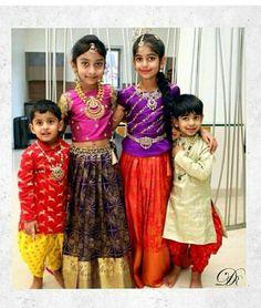 17 trendy jewerly crafts for girls boys Kids Indian Wear, Kids Ethnic Wear, Kids Wear Boys, Kids Girls, India For Kids, Kids Lehenga, Baby Lehenga, Kids Blouse Designs, Baby Boy Dress
