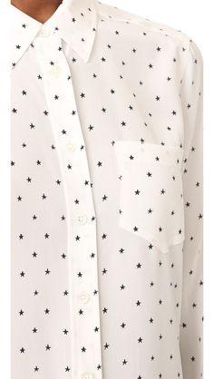 Equipment Kate Moss x Equipment Brett Shirt