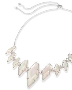 Berniece Necklace in Iridescent White Banded Agate - Kendra Scott Jewelry