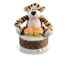 Safari Tiger Diaper Cake