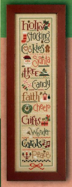 Christmas Spirit Series - all six Double Flip cross stitch patterns with charms by Lizzie Kate. $33.60, via Etsy.