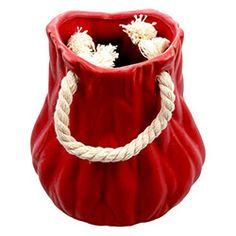 Evino 165 Küçük Boy Seramik Saksı - Kırmızı