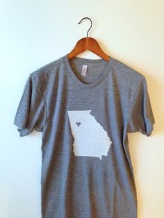 Georgia  Adult Tee by greythread on Etsy, $23.00