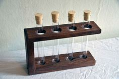 Walnut Test Tube Rack  Perfect for Spices Flowers by ModernStump, $40.00