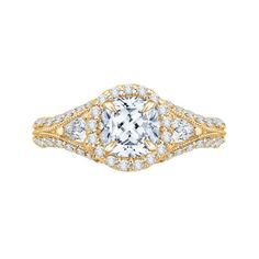 14K YELLOW SEMI MOUNTING W/ 1.20ctw DIAMONDS ( YOUR CHOICE OF CENTER DIAMOND SOLD SEPARATELY) | Engagement Rings from Parkers' Karat Patch | Asheville...