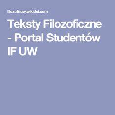 Teksty Filozoficzne - Portal Studentów IF UW