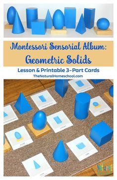 One of my children's favorite sensorial materials in our Montessori Sensorial Album are the Geometric Solids. They are perfect for small hands, they are versatile and there is so much the they learn with them! In this post, I will show you one of the lessons they practice (be on the lookout for more lessons coming soon!) and why we love Sensorial materials.