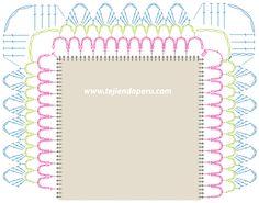 Cómo unir cuadrados con bordes a crochet para hacer manteles o caminos de mesa